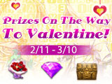 Prizes on The Way to Valentine
