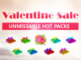 Valentine Sweet Sale in Shpping Mall