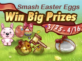 Smash Golden/Silver Easter Eggs, Win Fabulous Prizes
