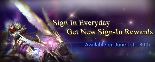 New Sign-In Rewards Only in June