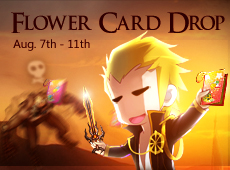 Monster Drop Flower Cards Aug. 7 - 11