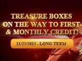 Brand New First Credit and Monthly Bonus!