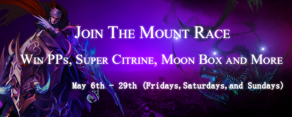 Mount Race Starts on May 6th