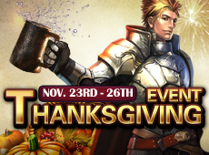 Join Thanksgiving Event for Delicious Rewards