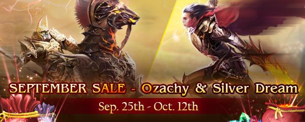 September Sale - Ozachy & Silver Dream