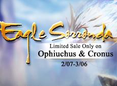 Eagle Sorronda Limited Sale on Ophiuchus & Cronus.