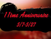 Célébration de 11ème Anniversaire avec les Evénements, le 07 Mai!