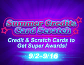 Summer Credit & Card Scratch Goes on Board!