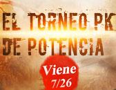 ¡La Última Ronda de Torneo PK de Potencia éste Domingo a las 20:30!