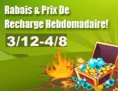 Rabais De Recharge Hebdomdaire commence le 12 Mars!
