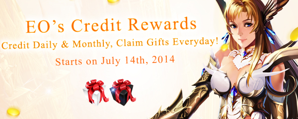 Credit Daily and Monthly, Claim Rewards Everyday!