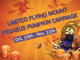 Limited Pegasus Pumpkin Carriage Available