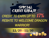 [20141126] Daily Event RECO: Special Credit Rebate, Offer Ends Nov. 30th.