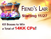 Fiend's Lair Storms Back on Thanksgiving!
