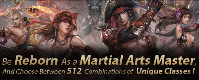 Be Born as a Martial Arts Master and Choose Between 512 Combinations of Unique Classes