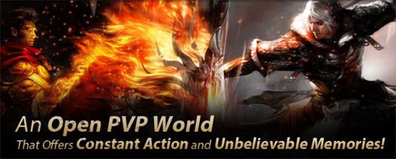 An Open PVP World, that offers Constant Action and  Unbelievable Memories