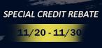 Thanksgiving Credit Rebate