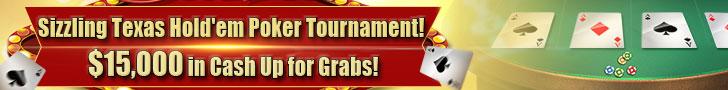 Sizzling Texas Hold'em Poker Tournament