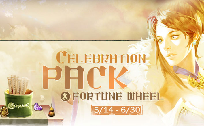 Celebration Pack and Fortune Wheel