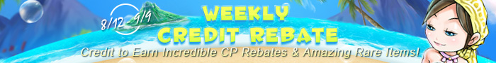 Weekly Credit Rebate and Prizes