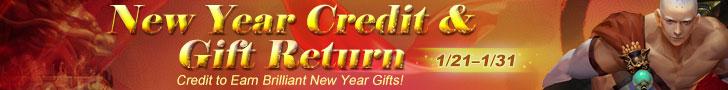 New Year Credit & Gift Return