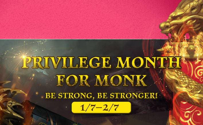 Privilege Month for Monks