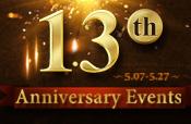 13th Anniversary Celebration Events