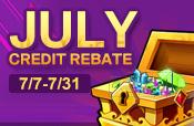 July Credit Rebate