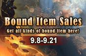 Bound Item Sales