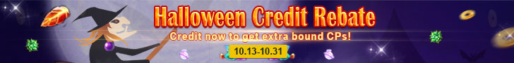 Halloween Credit Rebate