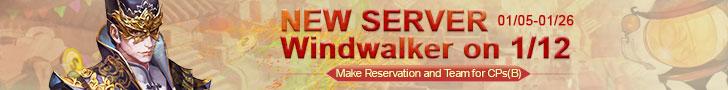 New Server Windwalker ON 1/2