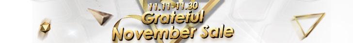 Grateful November Sale