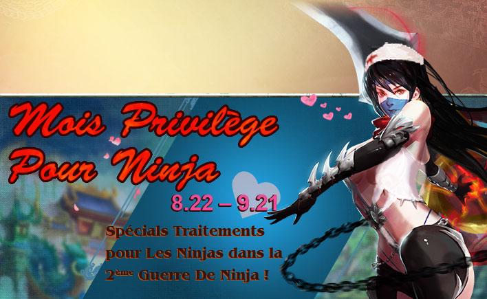 Mois Privilège de Ninjas
