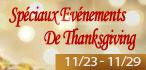Evénements de Thanksgiving