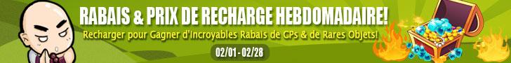 Rabais & Prix De Recharge Hebdomadaire